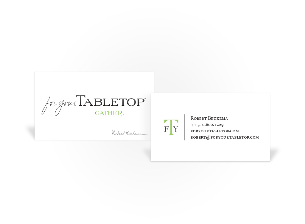 For Your Tabletop – Business Card